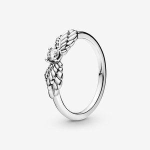 🔥PANDORA Sparkling Angel Wings Ring